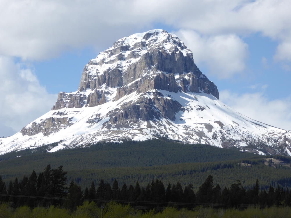 Beautiful Crowsnest Mountain, Alberta