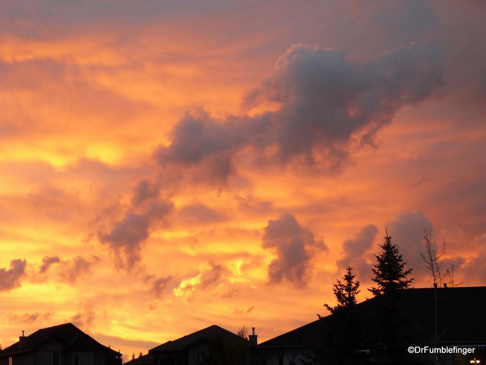 Prairie Sunset, views from my home in Calgary