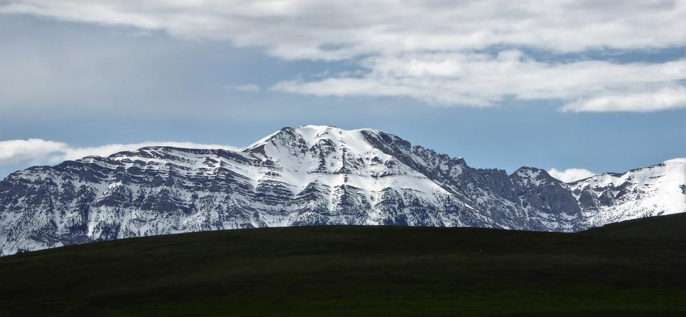 Still lots of snow left in the Rocky Mountains