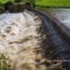 River Aln, Alnwick, Northumberland. Following the recent heavy rain