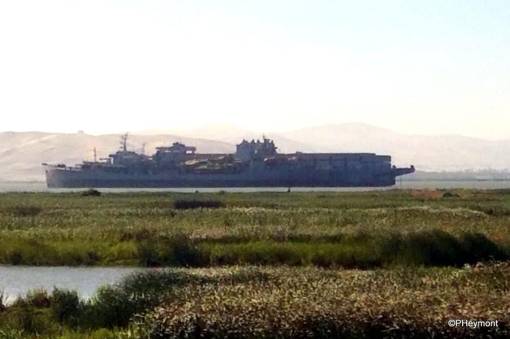 Almost a ghost: mothballed ships, California