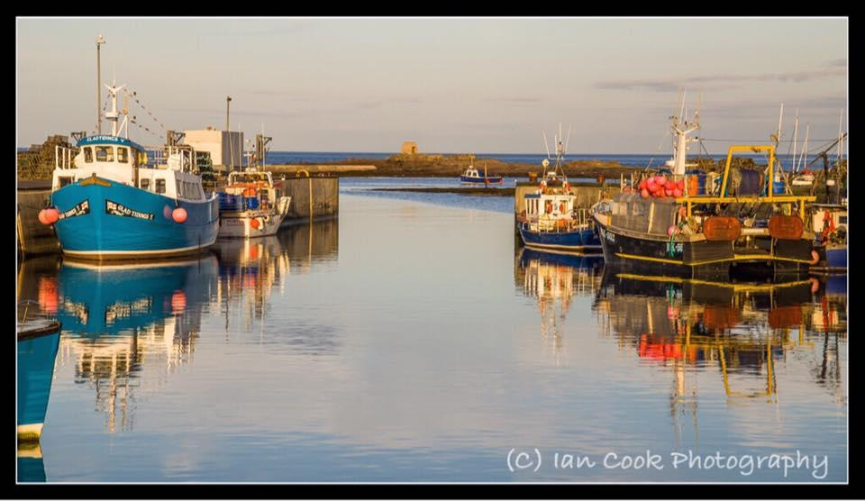 Seahouses harbour Northumberland.
