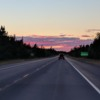 Road trip sunset, New Brunswick, Canada