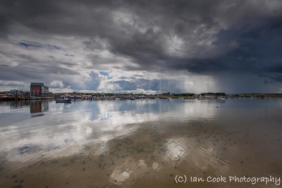 Approaching storm, Warkworth Harbour, Amble, Northumberland.