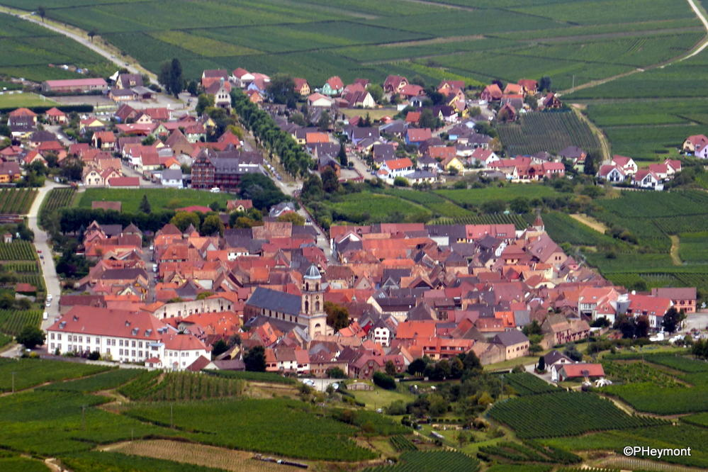 Alsatian Village from above