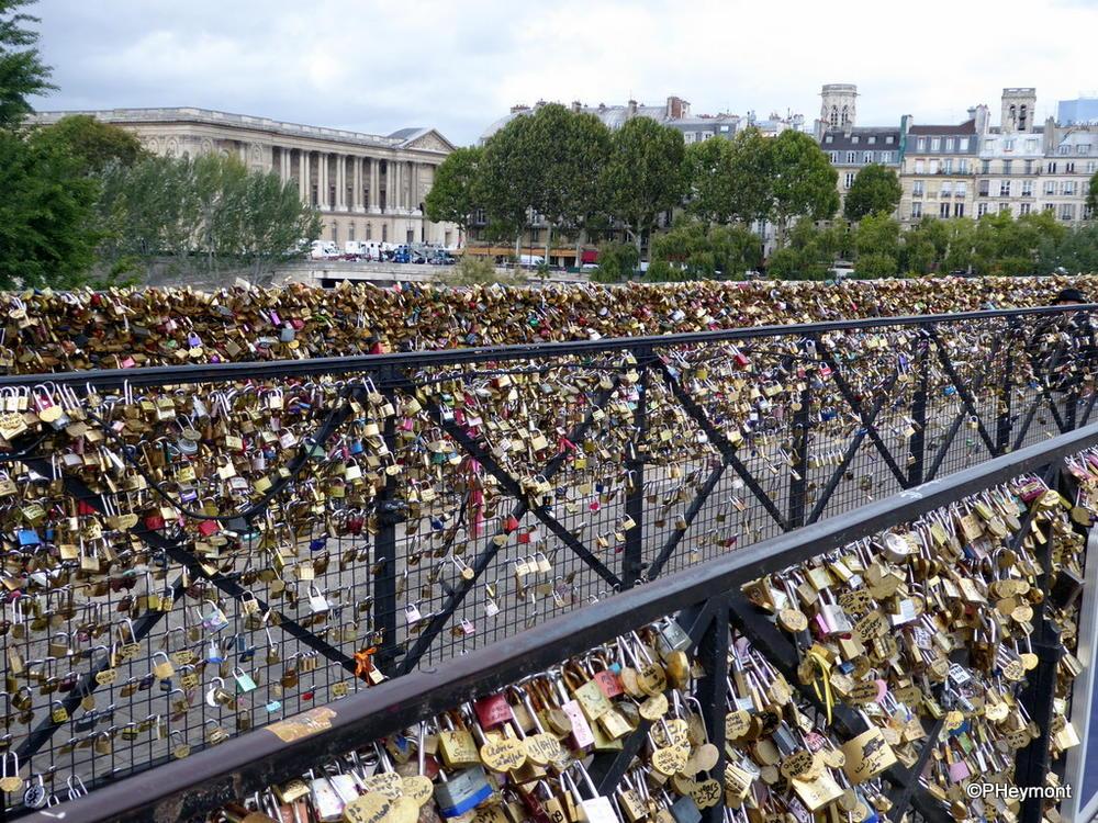 Love Locks on Pont Neuf, Paris