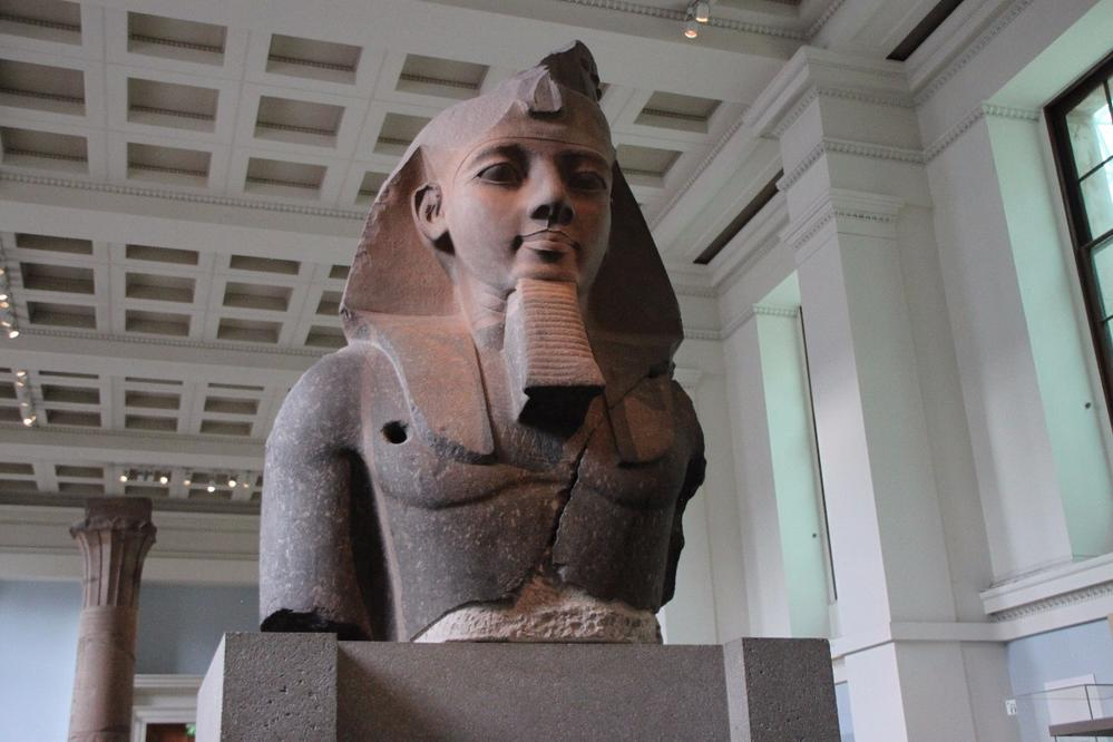 Huge bust of Pharaoh Ramses II, British Museum, London
