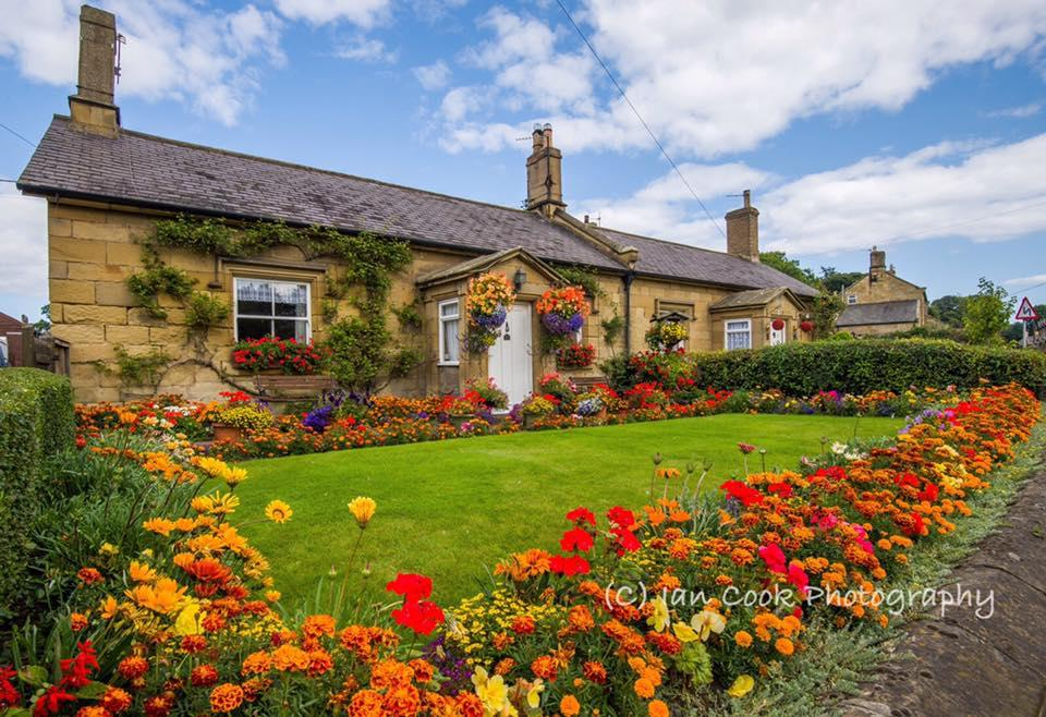 Cottage garden, Denwick, Northumberland. Every year this cottage looks stunning, a credit to the gardener who put the effort in.