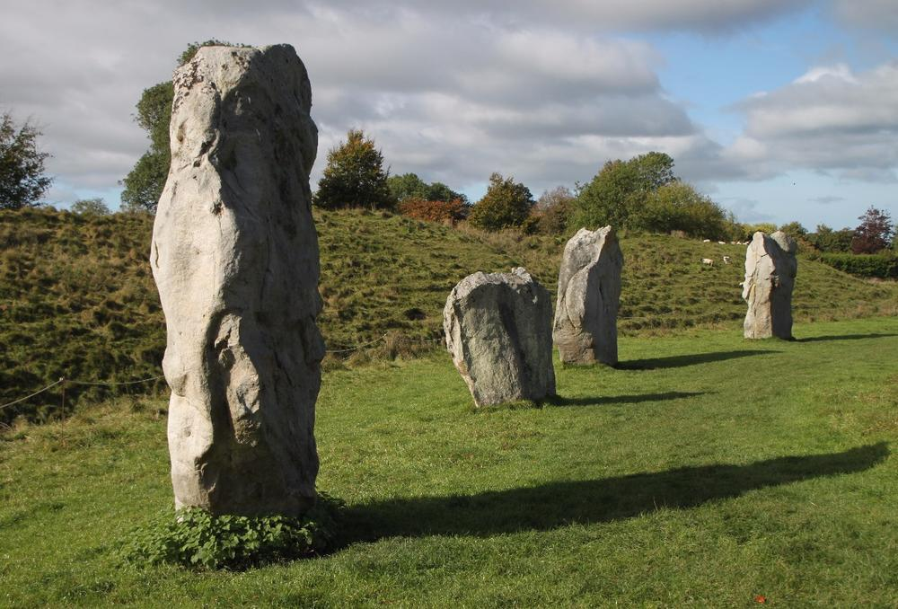 A small portion of the large ancient stone circle at Avebury