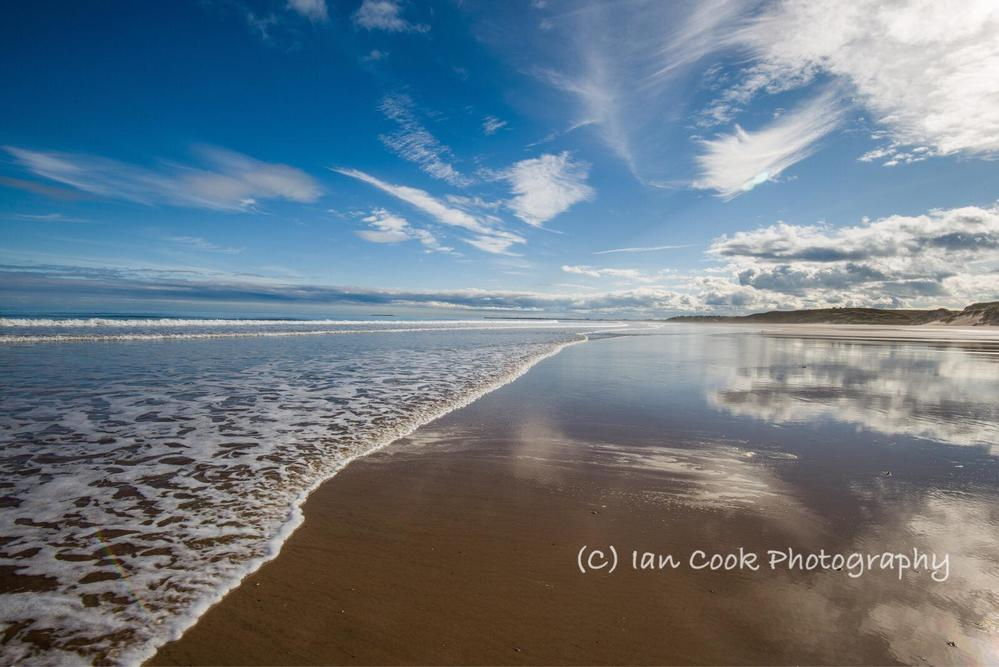 Alnmouth Bay Northumberland, looking South to Amble