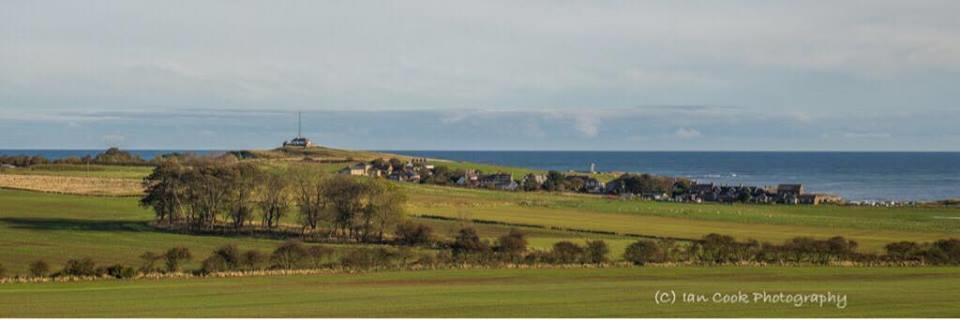 Newton by the Sea, Northumberland. Panoramic image.