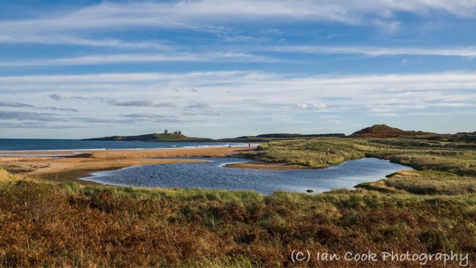 Dunstanburgh Castle and Embleton Bay Northumberland. Rather nice light tonight just before sunset.