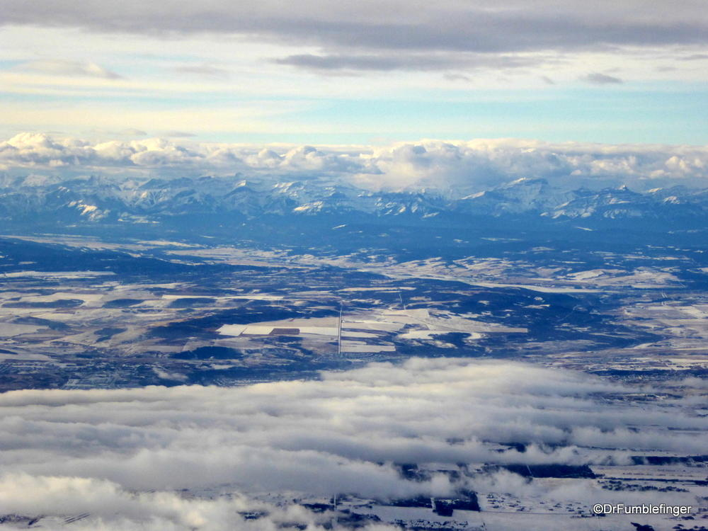View of Canadian Rockies from Calgary
