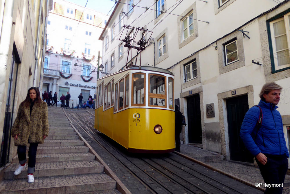 Lisbon's steep streets