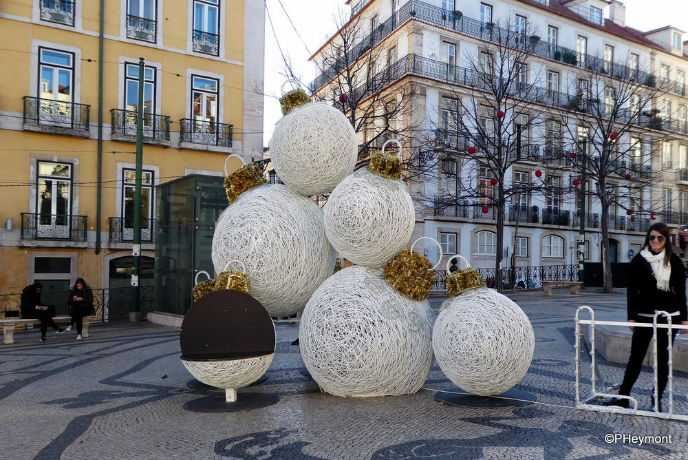 Christmas decorations in Lisbon