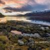Sunset at Sgeir na Sean Chroit, Loch Linnhe, Scotland.