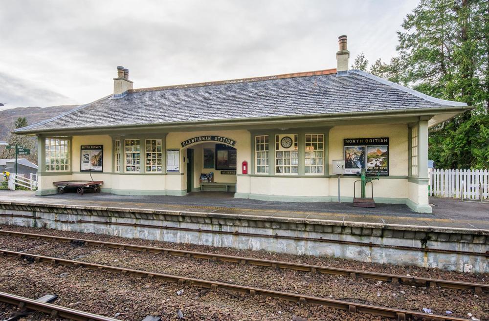 Glenfinnan Railway Station, Glenfinnan, Scotland.