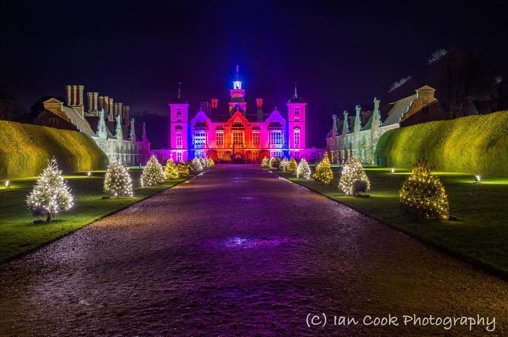 N.T. Blickling Hall, Christmas lights.