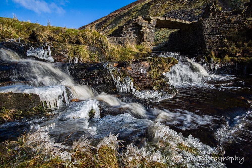 Ice Flow. Lownathwaite Lead Mine, Swaledale North Yorkshire