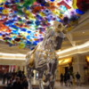 Beautiful Chihuly chandelier in the Bellagio Lobby, Las Vegas