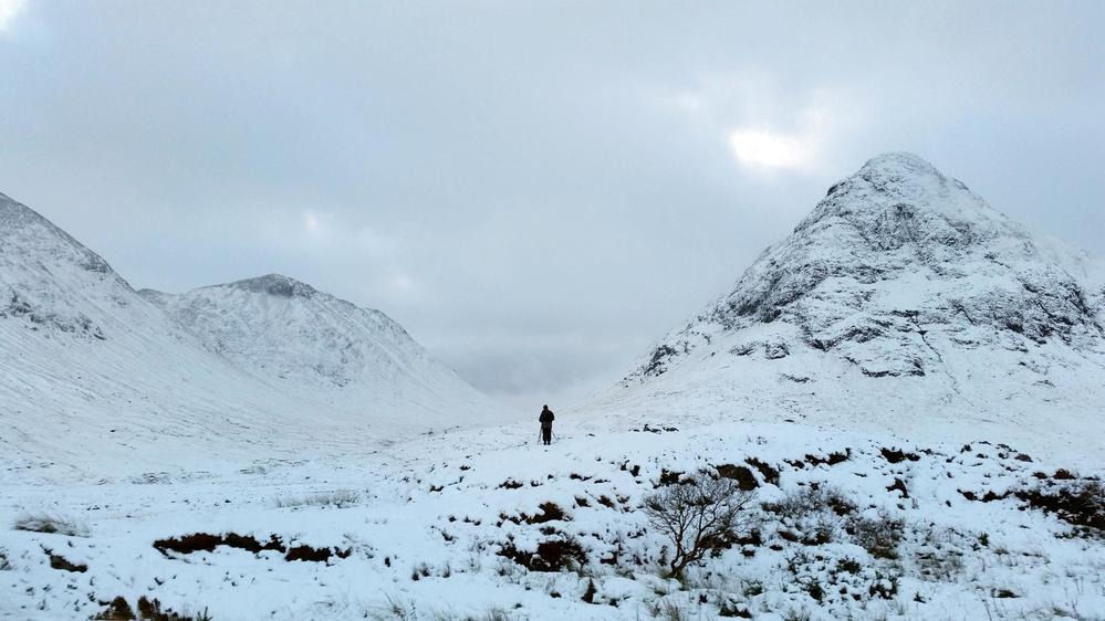 Ian Cook in Rannoch Moor, Scotland.