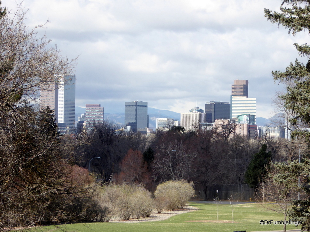 View of Denver skyline, from City Park