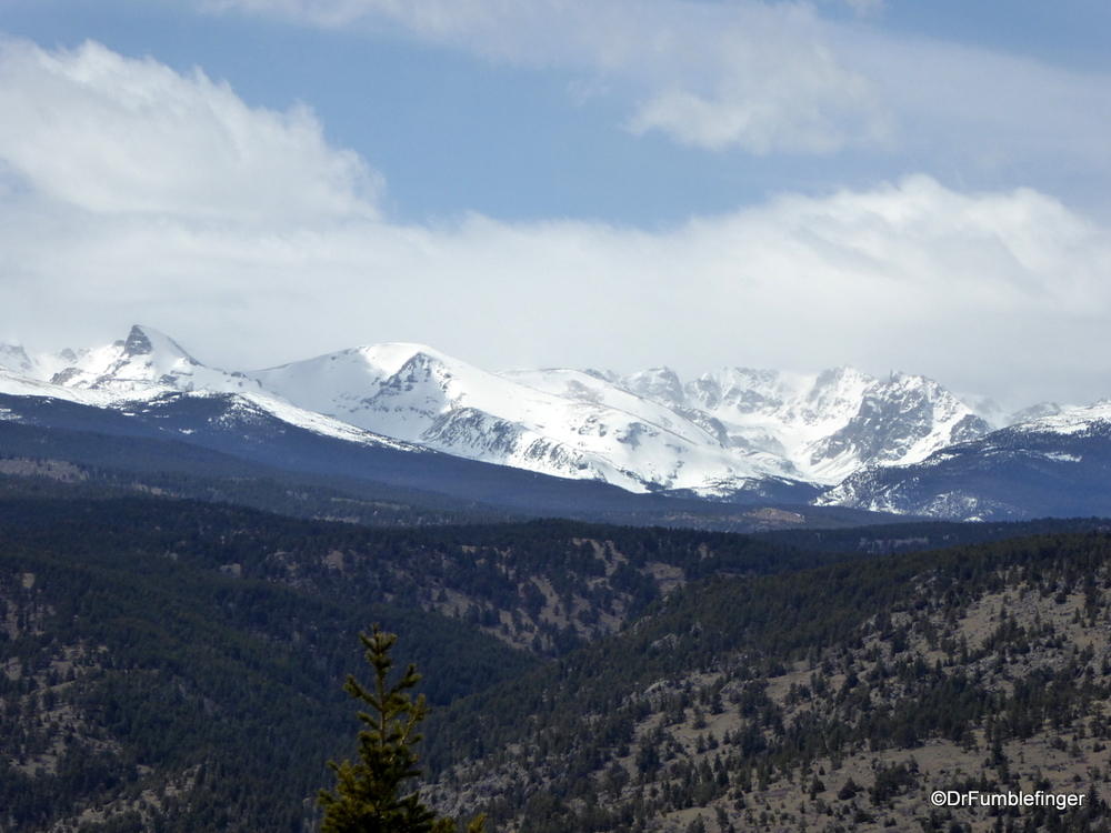 Snow covered Indian Peaks in the Colorado Rockies
