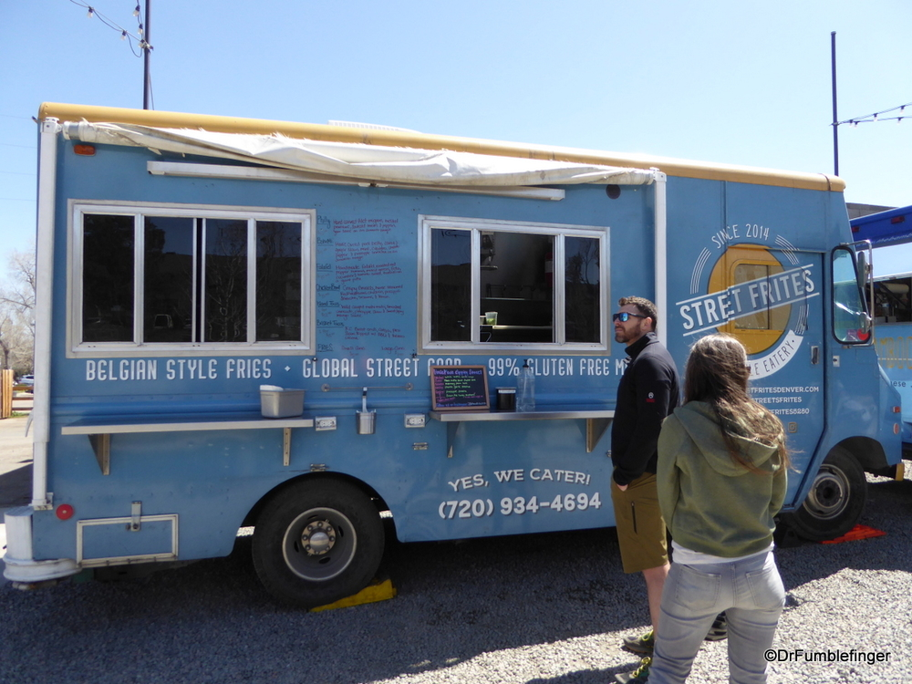 One of the many food trucks in Boulder, Colorado