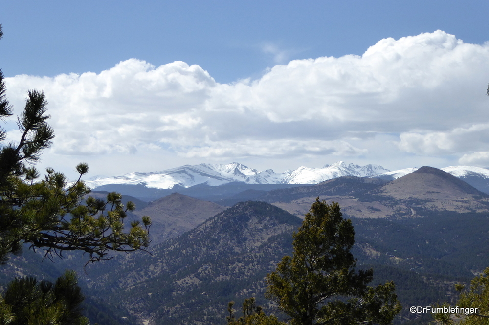 The Indian Peaks of Colorado's Rockies still have lots of snow on them