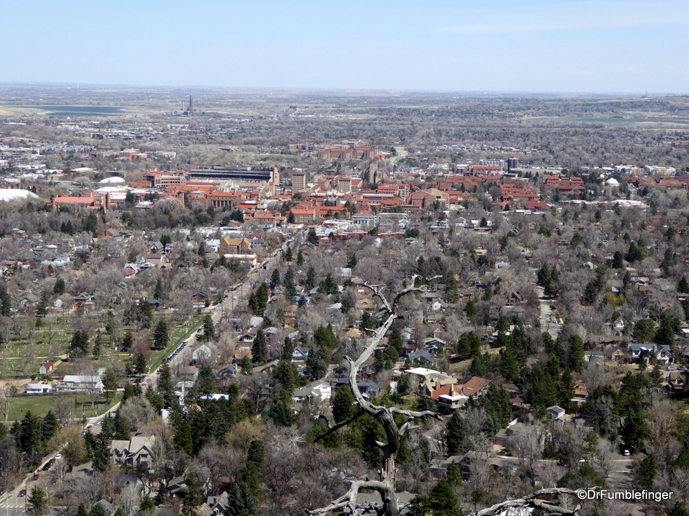 View of Boulder (esp. University of Colorado), from Flagstaff Mountain