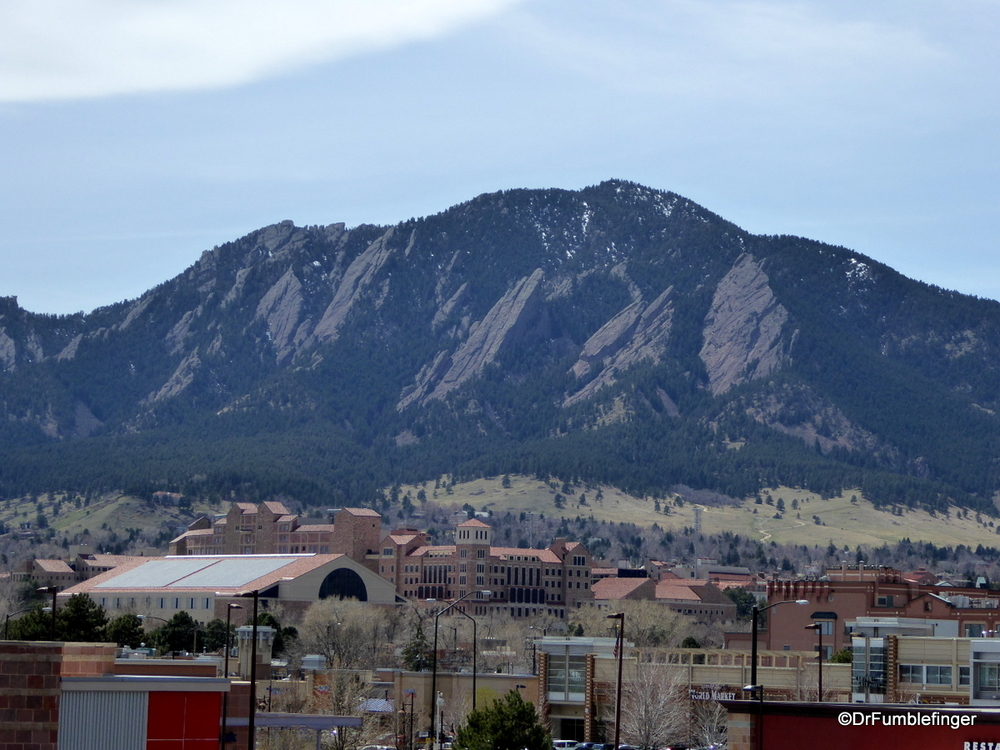 The Flatirons, viewed from Boulder, Colorado