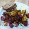 Colorado take on corned beef hash.  Tangerine restaurant, LaFayette, Colorado