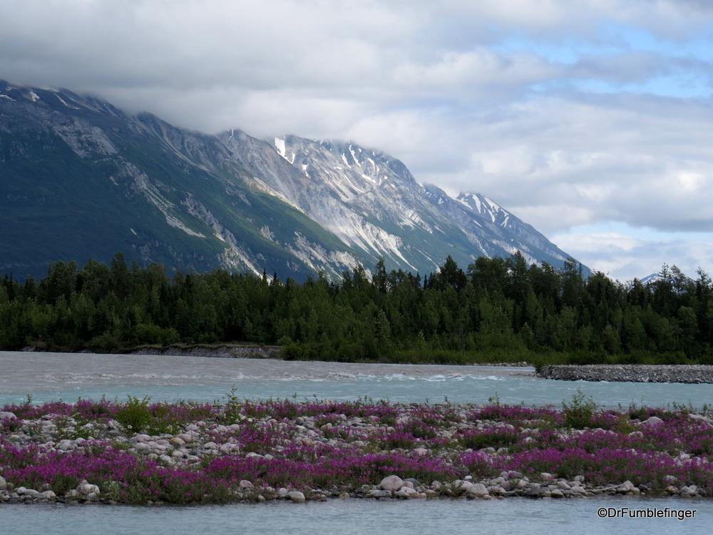 Melt Creek, glacial drainage into the Tatenshini