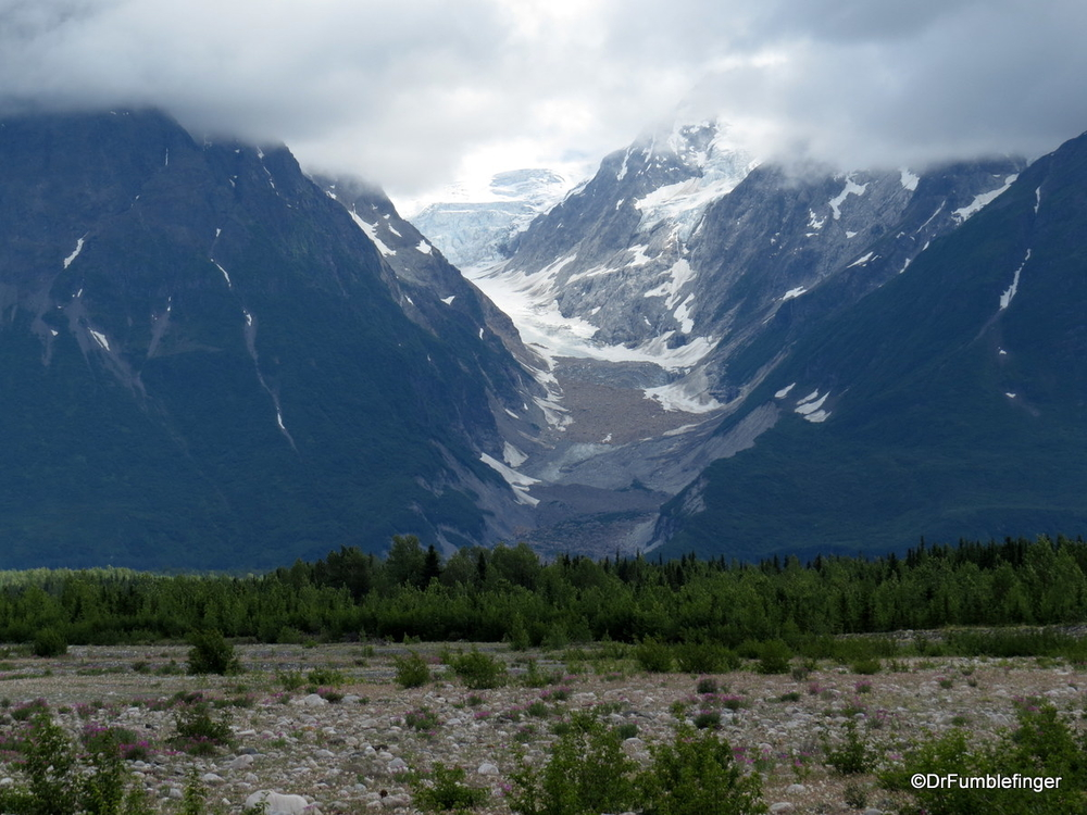 Entering the land of glaciers, near the junction of the Alsek