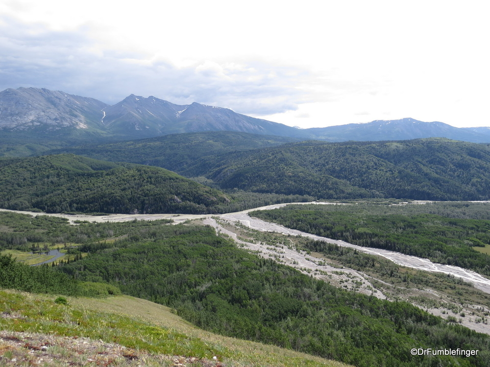 Quite a hike, but worth it for the great view of the Tatenshini River.