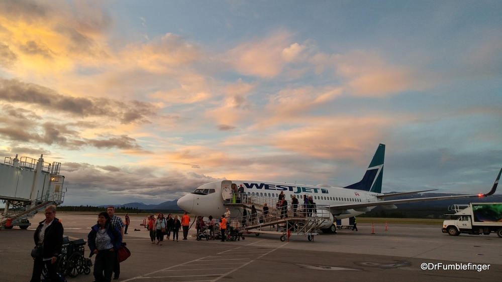 Land of the Midnight Sun.  Arriving at Whitehorse airport in the Yukon at 11:45 p.m.