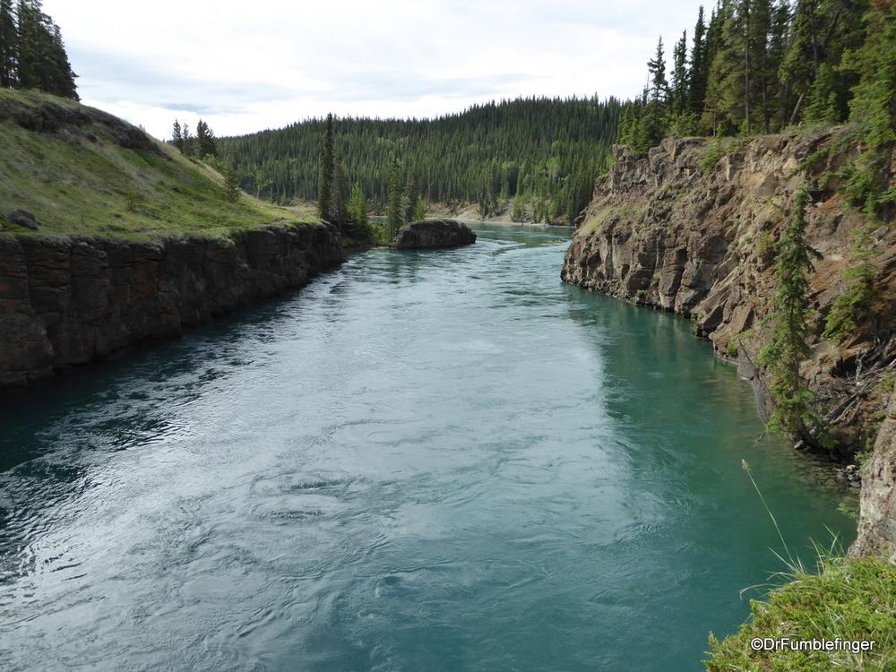 Yukon River passing through Miles Canyon