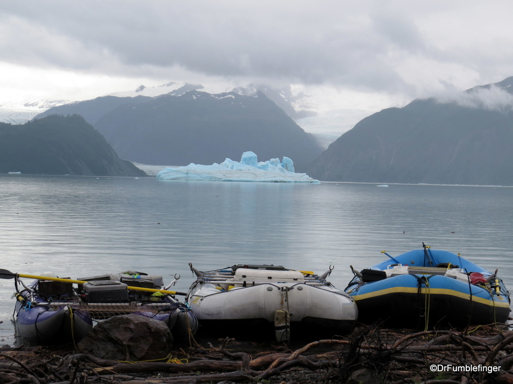 A highlight of the rafting trip -- the icebergs and glaciers of Alsek Lake
