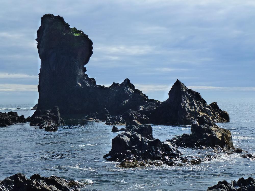 Black Ancient Beach Lava, Iceland