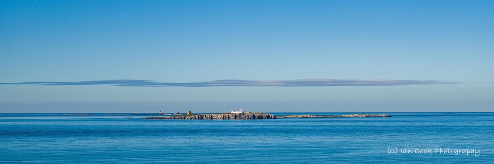 The Farne Islands Northumberland panorama.