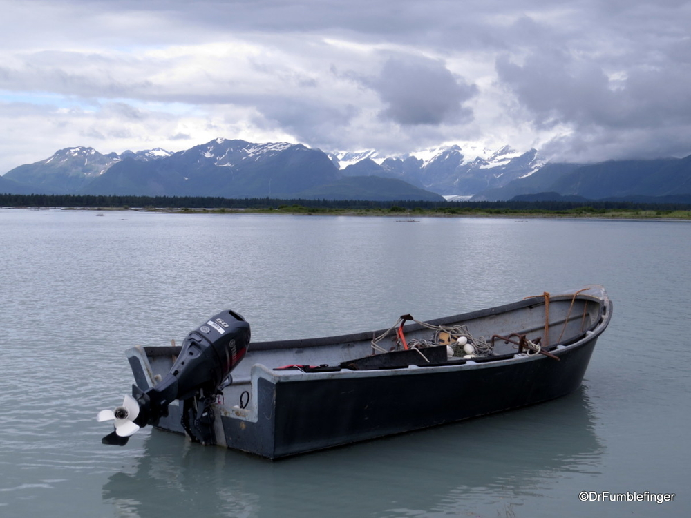 Journey's end.  Some 225 km later, our rafting trip ends in Dry Bay, Alaska