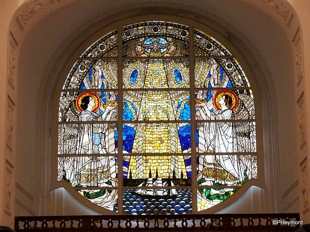 Stained glass, St Michael's Cathedral, Hamburg