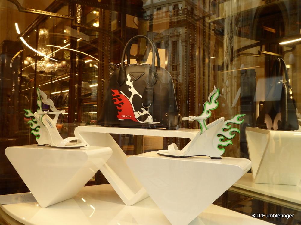 Prada window display, Galleria Vittorio Emanuele II, Milan