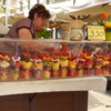 Great fruit cup at the Piazza delle Erbe, Verona