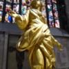 Madonnina copy inside the Duomo, Milan