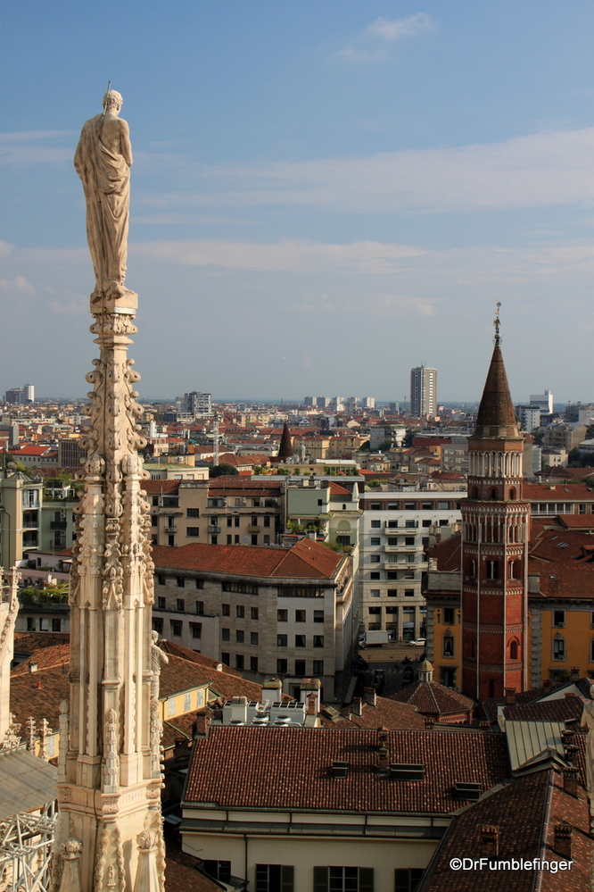 Views of Milan to the south, from the Duomo's roof walk