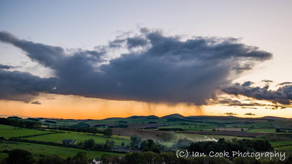Passing storm over the Cheviots, Northumberland