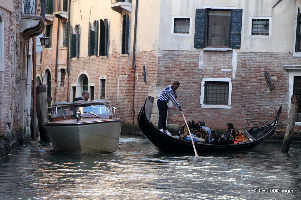 Venetian traffic jam -- the old and new