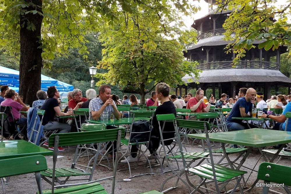Beer Garden in Munich's Englischer Garten