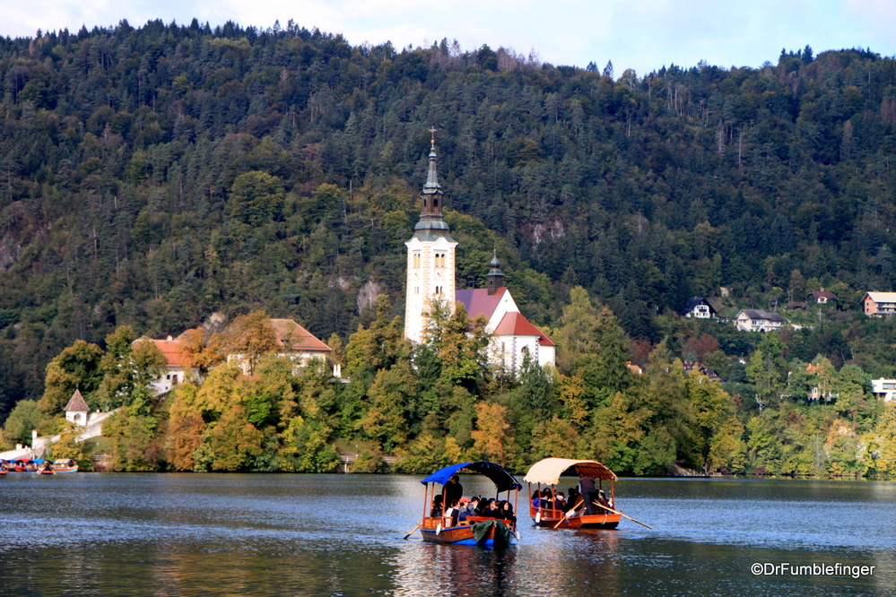 Approaching Bled Island by Gondola